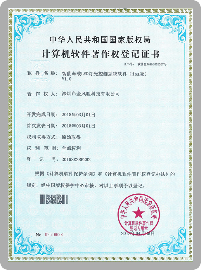 Software copyright form of Higlow App