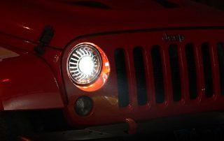 EMC test for 7inch LED headlight for Jeep Wrangler
